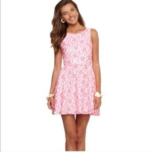 Lilly Pulitzer Sandrine Fiesta Pink Lace dress